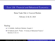Lecture 8,10 - Noise-Trader Risk Model (updated p.11)
