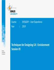 20190708145107d3517 05 Pptx Course Year Isys6209 U2013 User Experience 2019 Techniques For Designing Ux Envisionment Session 05 Learning Outcomes U2022 Lo Course Hero