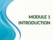 Module 1 - Introduction(1)