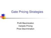 L11 Gate Pricing Strategies