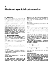 Kinetics of a Particle in Plane Motion