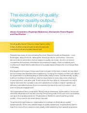 The evolution of quality_Higher quality output, lower cost of quality.pdf