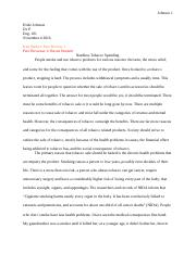 Smoking arguementative essay