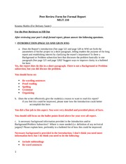annotated bibliography peer review worksheet Copies of the annotated bibliography peer review worksheet there is no absolute standard for how annotated bibliographies are structured.