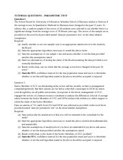 TUTORIAL QUESTIONS PARAMETRIC.docx