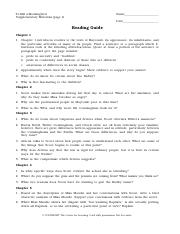 To Kill A Mocking Bird Reading Guide Pdf To Kill A Mockingbird Supplementary Materials Page 1 Name Date Reading Guide Chapter 1 1 Chapter 1 Introduces Course Hero