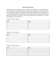 Sign-up Sheet
