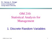 Section 5 Operation Management Statistics