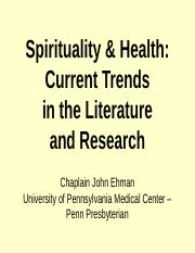 Spirituality_Research_Intro_Sept09.ppt
