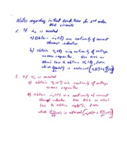 NOTES- Initial Conditions for 2nd Order  RLC Circuits