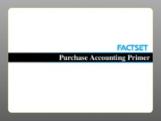 Purchase Accounting Primer