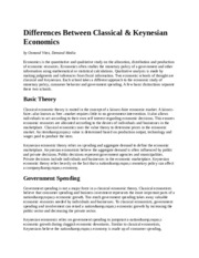 Differences Between Classical and kensian