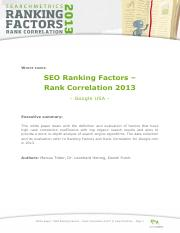 SEO Ranking Factors Study - SearchMetrics