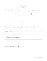 lecture 8 on Calculus I