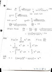 Example of fundamental theorem of calculus