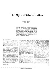 the myth of Globalization, Columbia journal