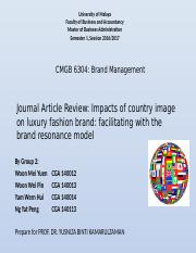 Group 2_Impacts of country images on luxury fashion brand