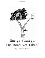 reading 1 Energy Strategy - The Road Not Taken (Reprint from Foreign Affairs, 1976)