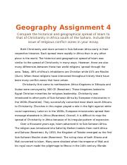 Geography Assignment 4