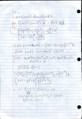 Multivariable Calculus 10.6 Homework Solutions
