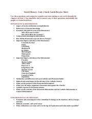 World History Unit 2 Study Guide.doc