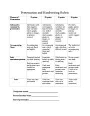 Presentation_Handwriting_Rubric
