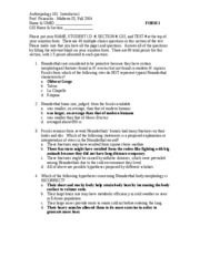 study guide - old exam key