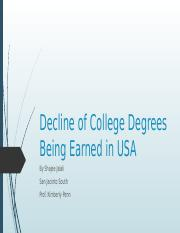 Decline of College Degrees Being Earned in USA.pptx