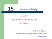 ECO210 - Chapter 16 - Monetary Policy