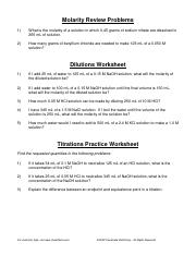 Dilution___Titration_Problems_Worksheet_with_answers