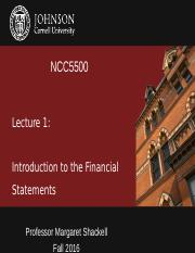 Lecture 1 - Intro to Financial Statements_BC
