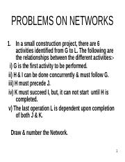 PROBLEMS SOLVING ON NETWORKS -P-9.ppt