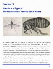 Ent 2101 - Chapter 13 - Malaria and Typhus- The World's Most Prolific Serial Killers.pdf