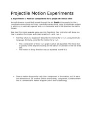 Projectile Motion Experiments (#6)