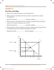 Price Ceiling Floor Activity Pdf Lesson 5 What Happens