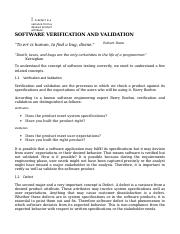 chapter9 - Software Verification and Validation.doc