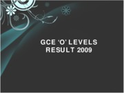 GCE Result 2009