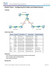 6.2.2.4 Packet Tracer - Configuring IPv4 Static and Default Routes Instructions.docx