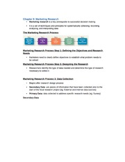 Chapter 9 Notes - Marketing Research