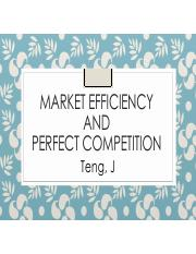 Mkt efficiency n PC
