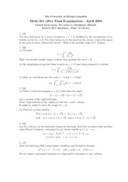 Math_301_Section_201_April_2005