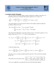 Lecture F Notes on Graduate Electromagnetics