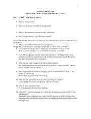 Exam_One_Objectives_from_the_Notes and Assigned Outside Readings