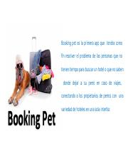booking pet ppt