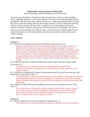2015 HBS Semester One Study Guide