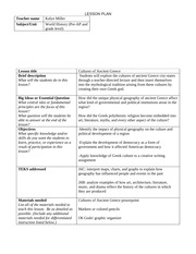 Cultures of Ancient Greece lesson plan
