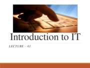 IT introduction - Lecture 1-1