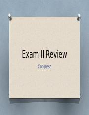 Exam II ReviewJeapordy Congress