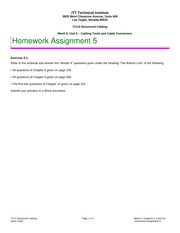 IT113 LV, Week 5, Homework 5, Chapters 6, 9 and 10