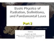 011811 - Basic Physics of Radiation, Definitions, and Fundamental Laws pt. 2